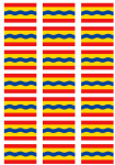 Overijssel Flag Stickers - 21 per sheet